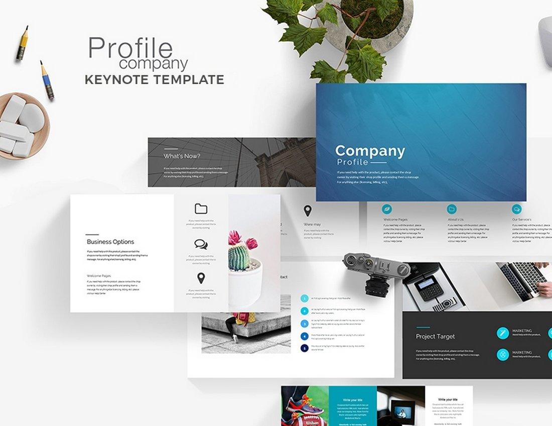 Company Profile - Free Keynote Presentation