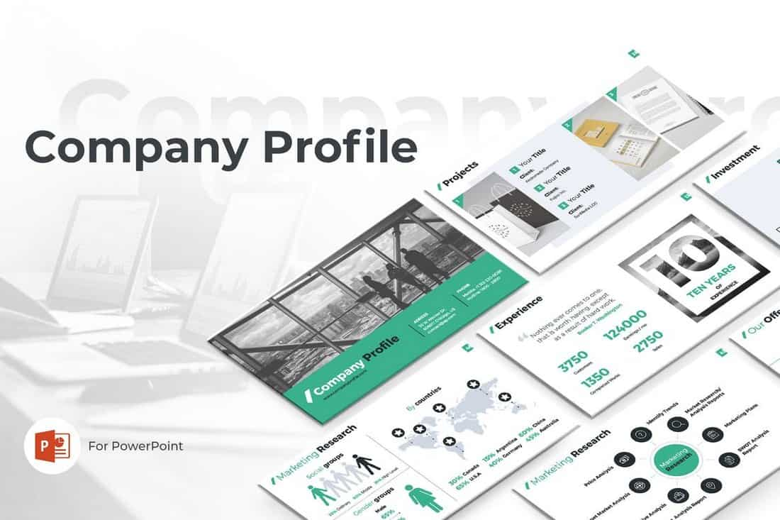 Company-Profile-PowerPoint-Template 20+ Best Company Profile Templates (Word + PowerPoint) design tips  Inspiration|company profile