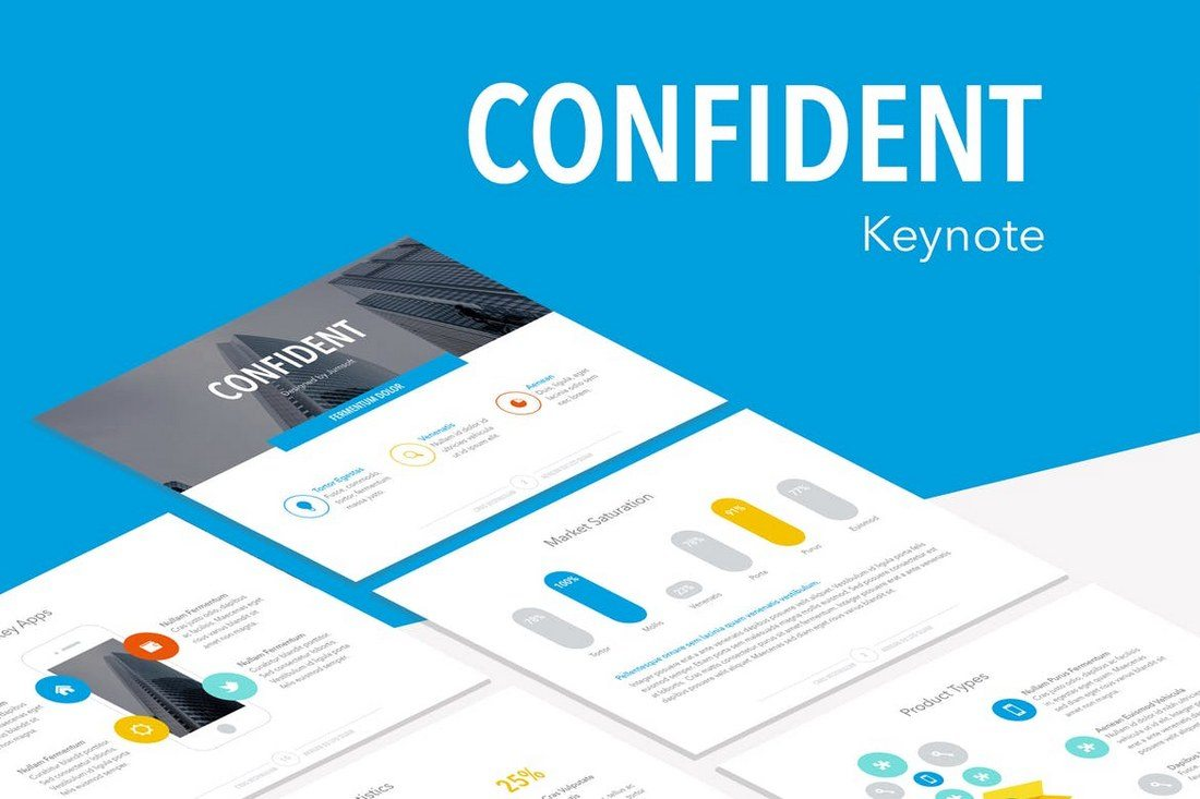 Condifent-Keynote-Template 30+ Best Minimal & Creative Keynote Templates design tips