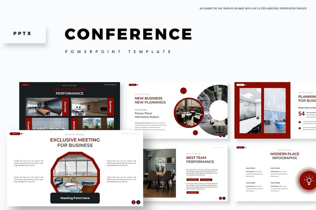 Conference-Clean-Powerpoint-Template 20+ Best Webinar PowerPoint Templates (Remote Presentation PPT Slides) design tips