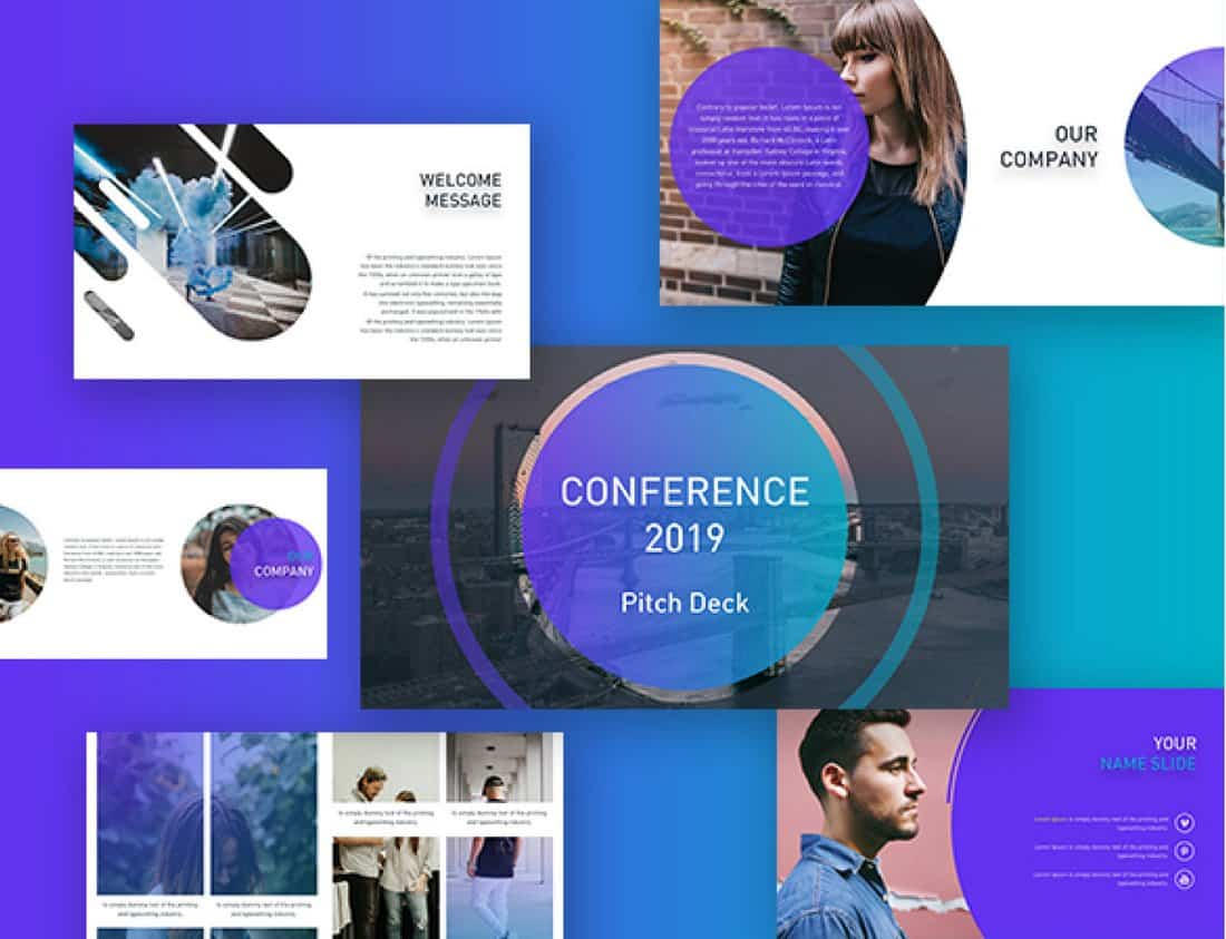 Conference Pitch Deck Powerpoint Template