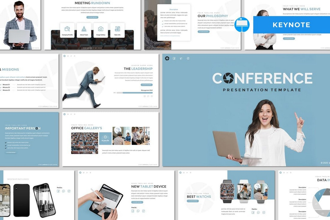 Conference-Simple-Keynote-Template 50+ Best Keynote Templates of 2021 design tips