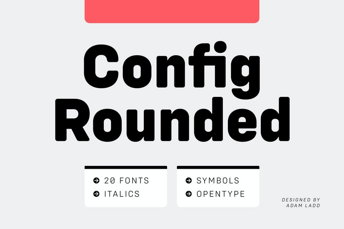 Config Rounded - Modern Font Family