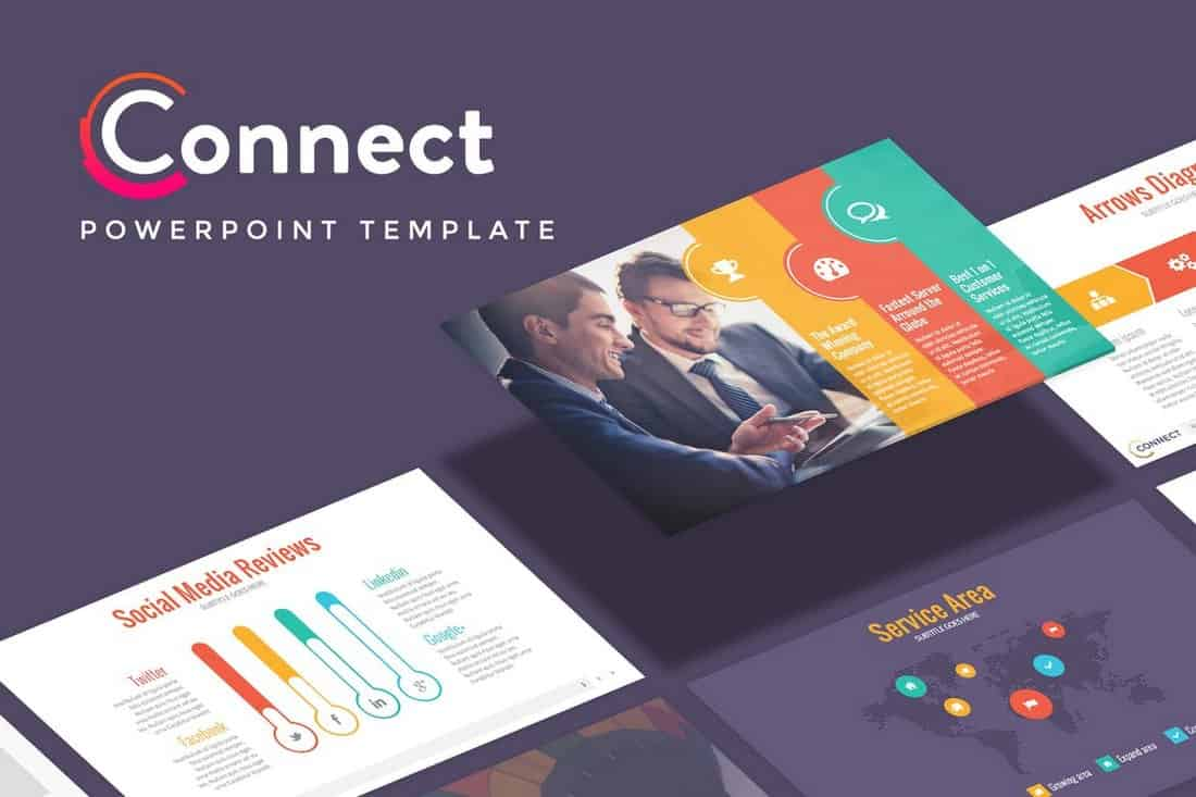 Connect-Startup-Pitch-Deck-Template-For-PowerPoint 20+ Best Startup Pitch Deck Templates for PowerPoint design tips