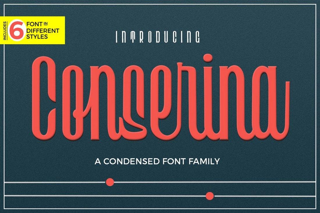 Conserina - 6 Typefaces