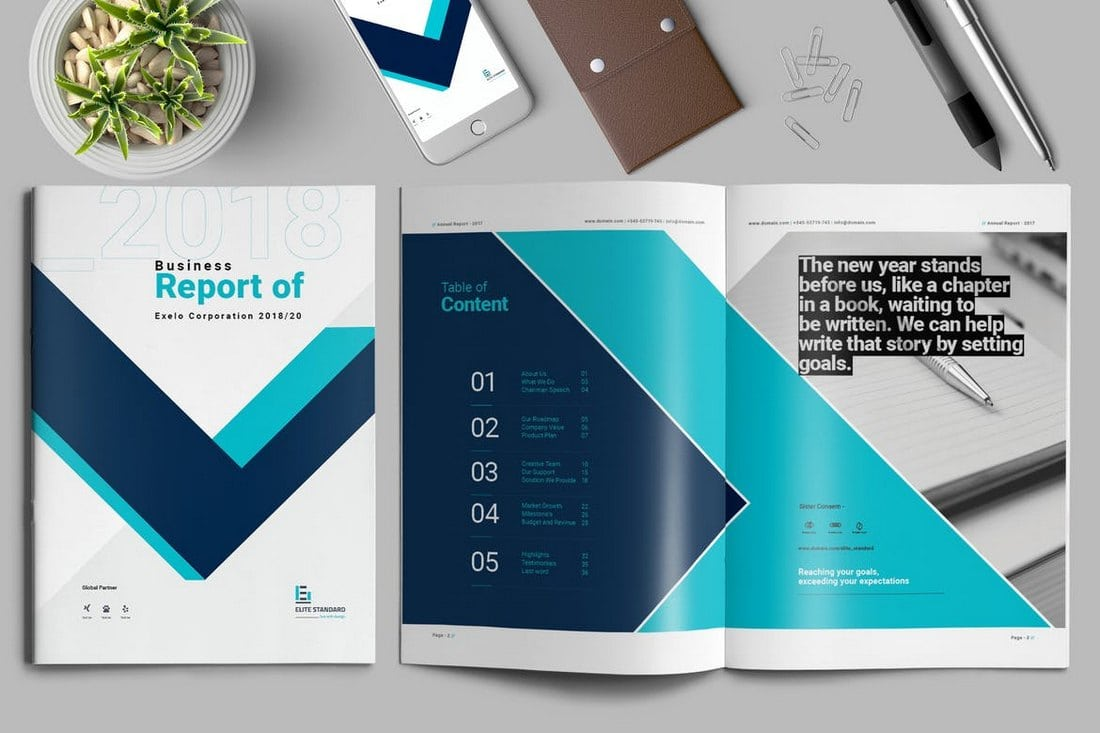 Contiguous-Annual-Report-Template 20+ Annual Report Templates (Word & InDesign) 2018 design tips