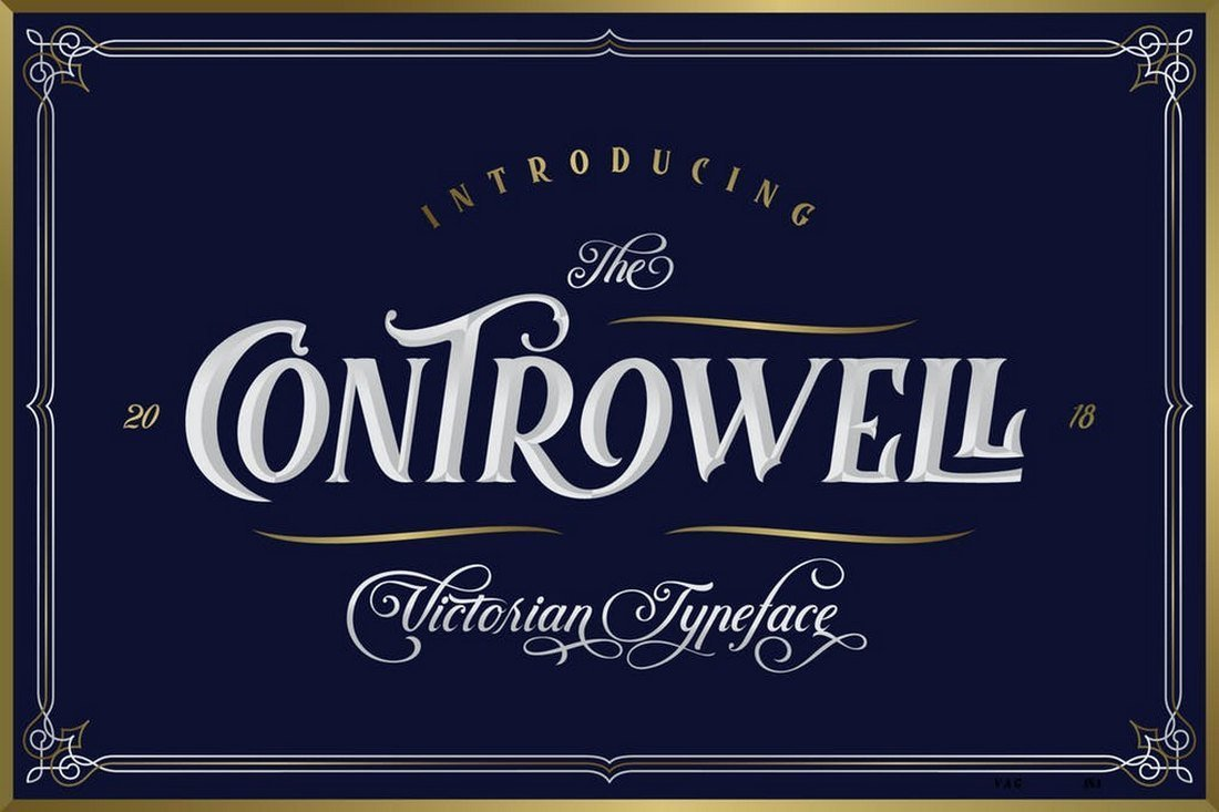 Controwell Victorian Slab Serif Font