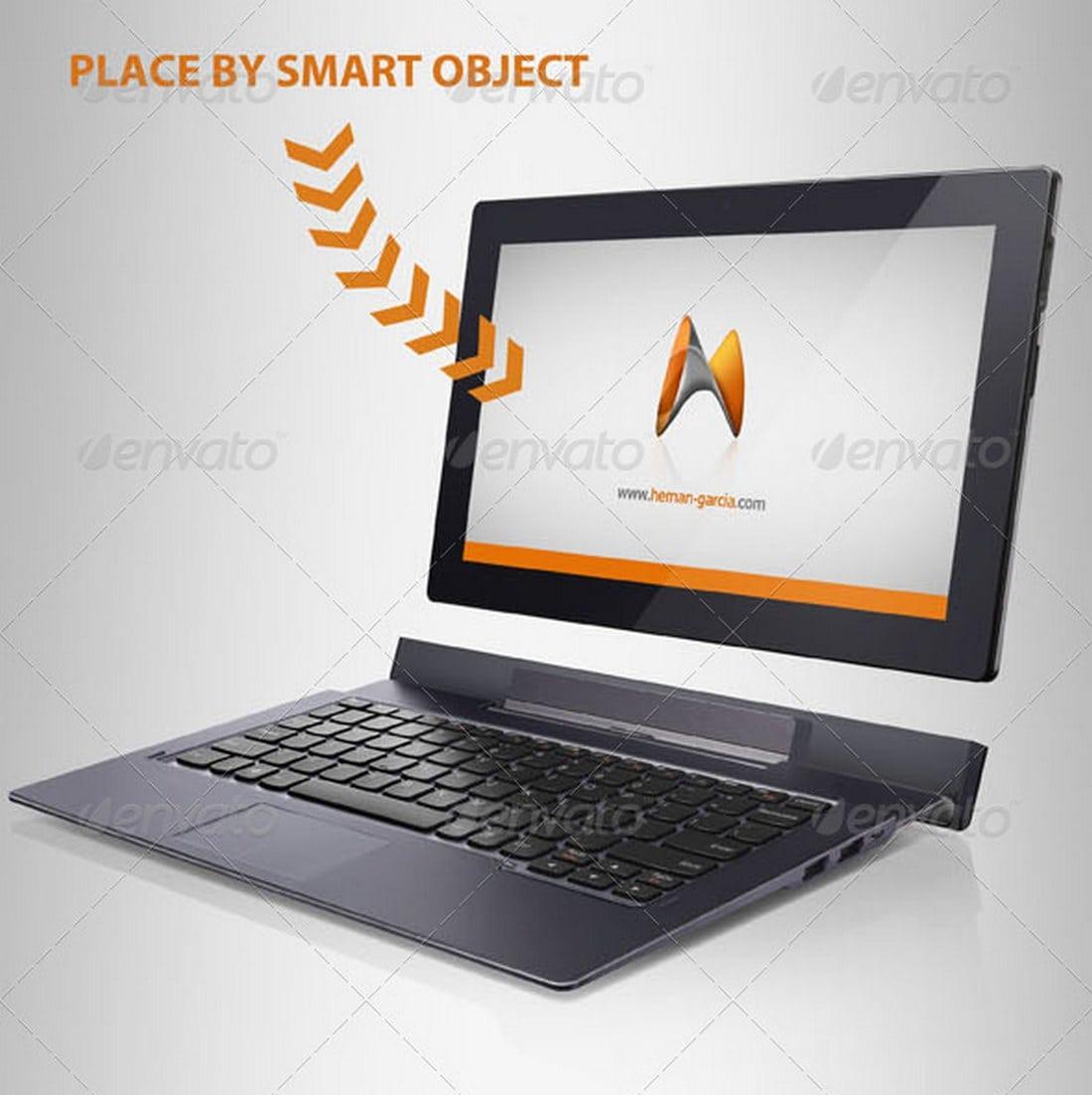 Convertible Laptop Mockup