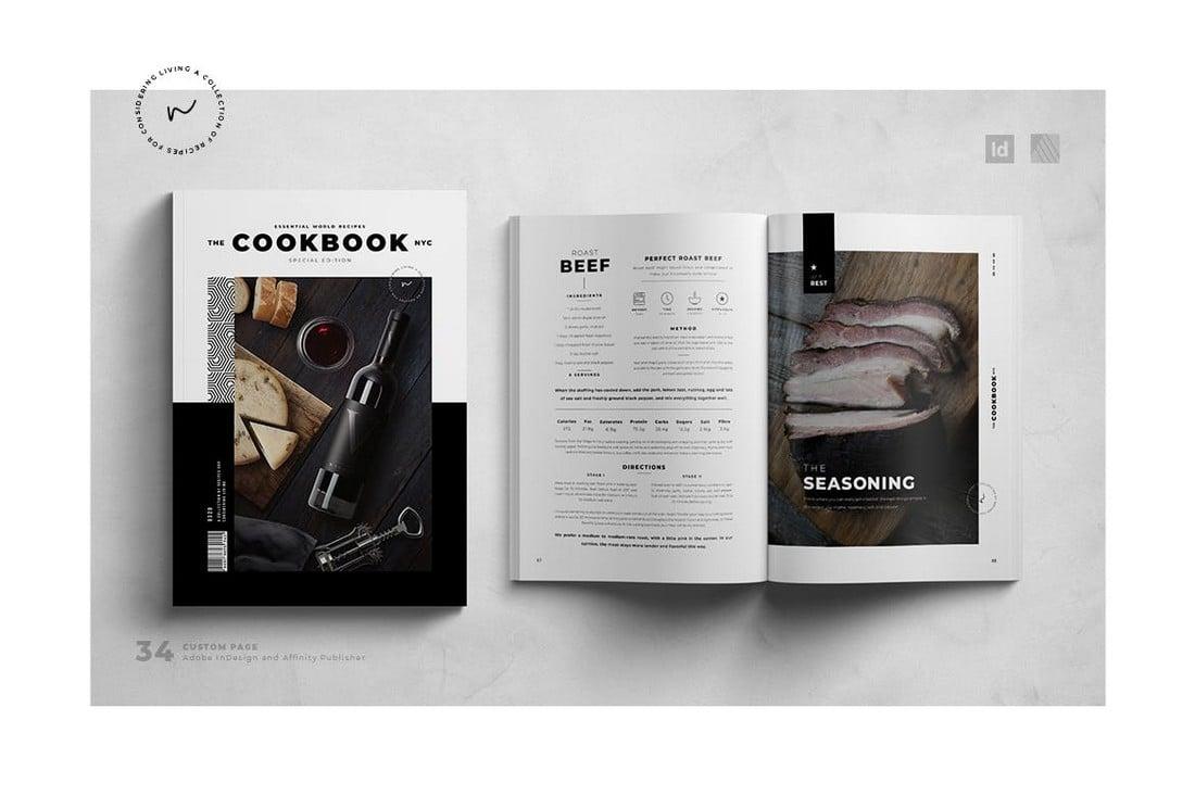 Cookbook & Recipe Book Affinity Publisher Template