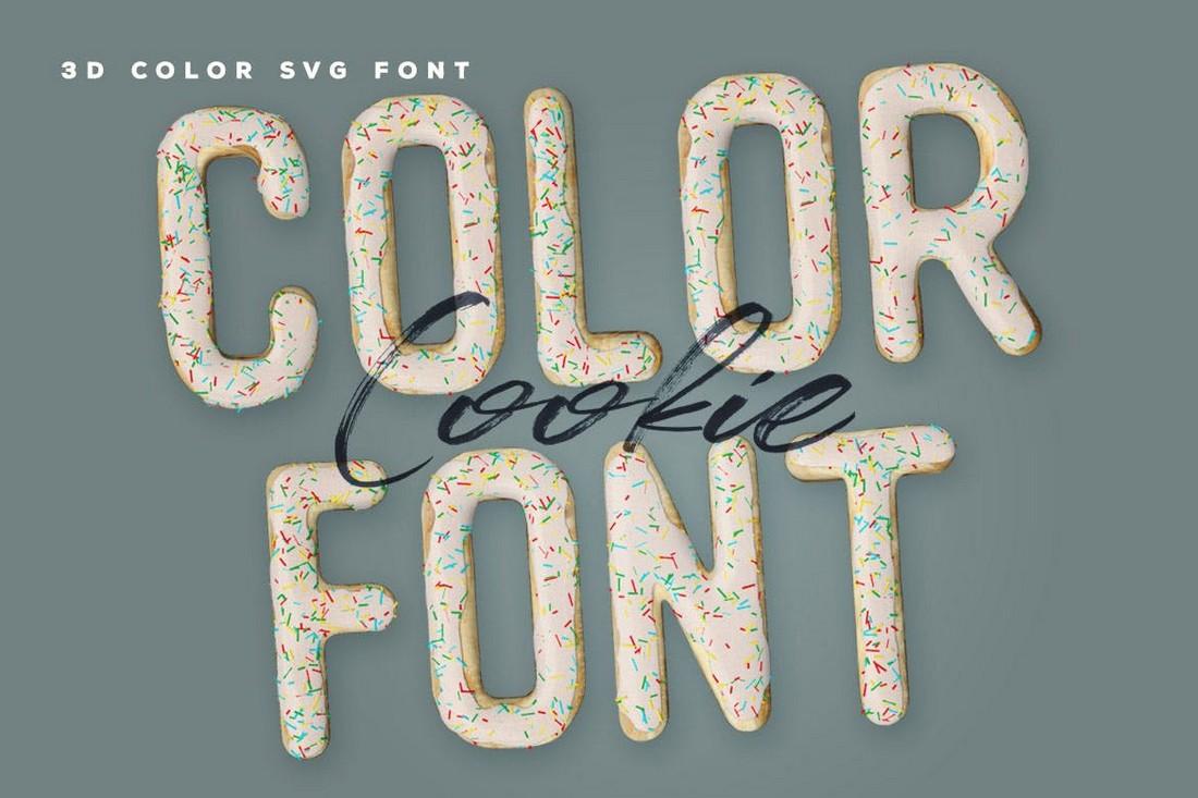 Cookie - 3D Color SVG Font