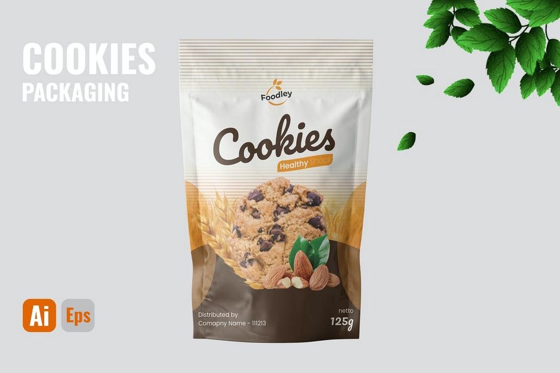 Cookies Packaging Design Template