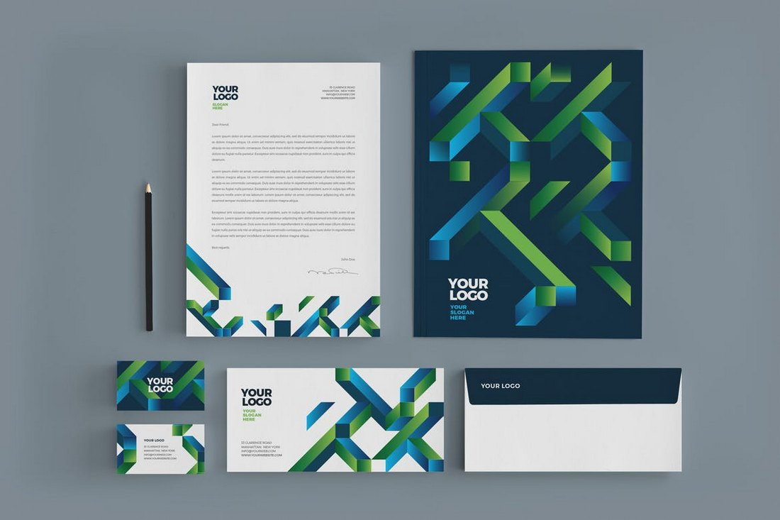 Cool Modern Colorful Stationery Template