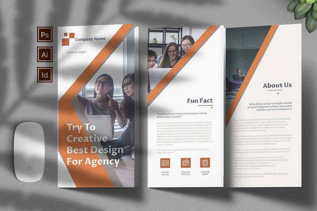Corporate-Agency-Brochure-Template 70+ Modern Corporate Brochure Templates design tips