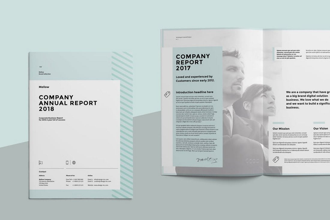 Corporate-Annual-Report 20+ Annual Report Templates (Word & InDesign) 2018 design tips