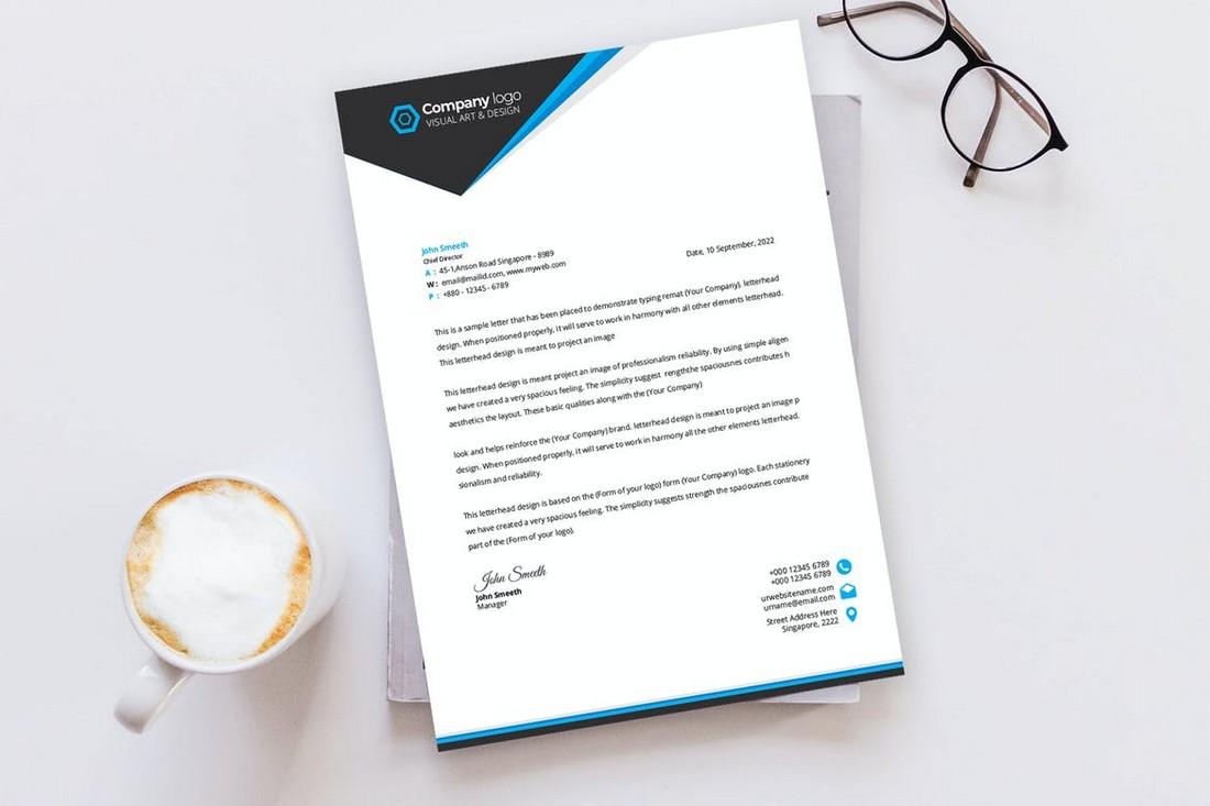 Corporate Brand Letterhead Template Kit