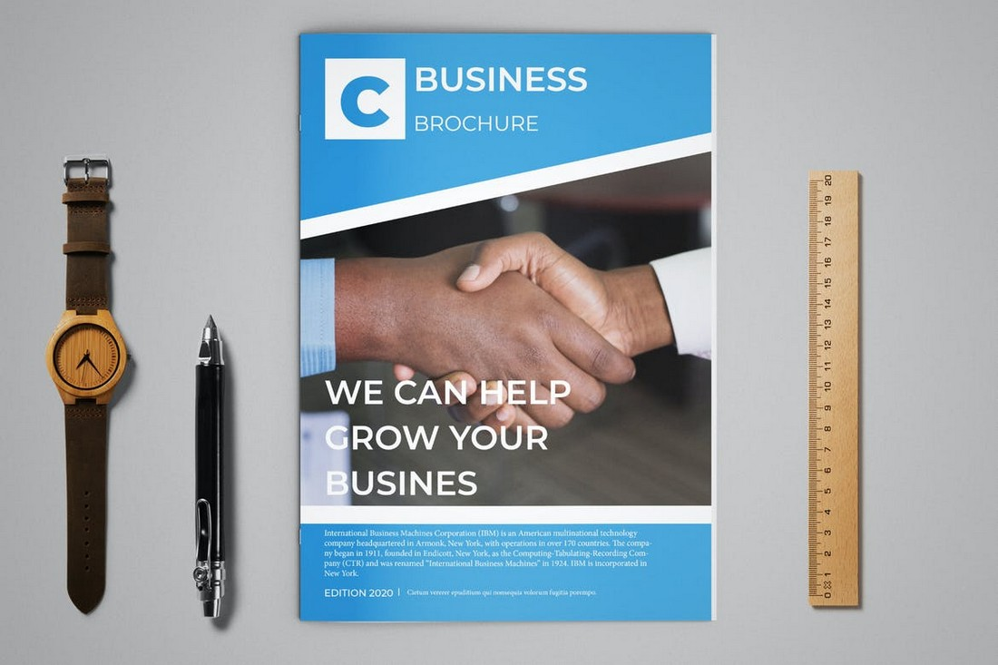 Corporate-Business-Brochure-12-Page-Template 70+ Modern Corporate Brochure Templates design tips
