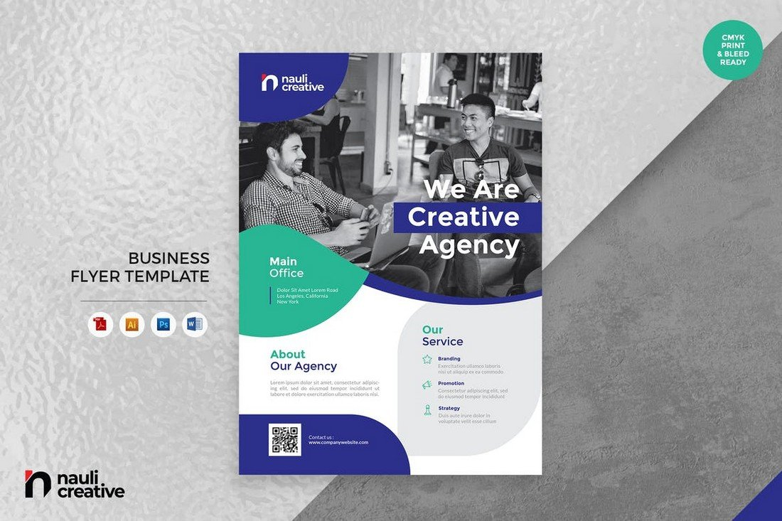 Corporate Business Flyer Word Template