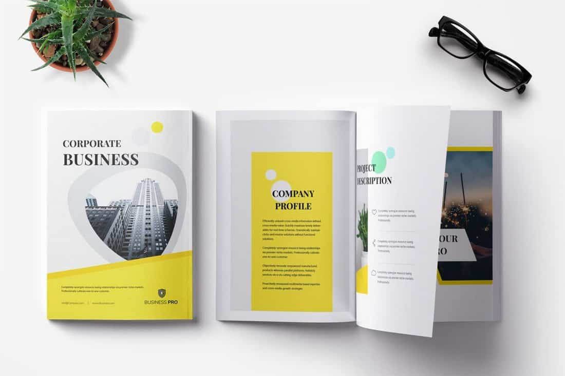 Corporate Business InDesign Brochure Template