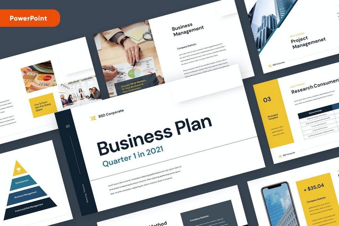 Corporate Business Plan Powerpoint Template