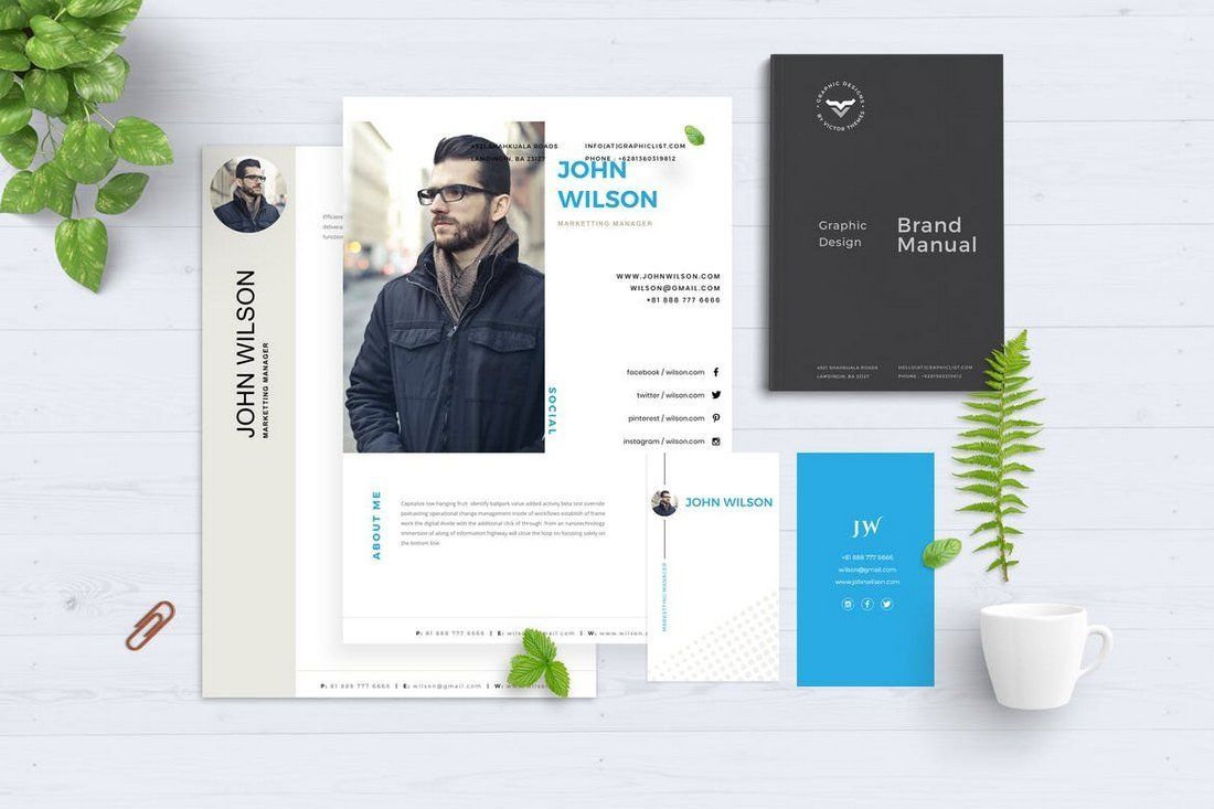Corporate-CV-Resume-Template 50+ Best CV & Resume Templates 2020 design tips