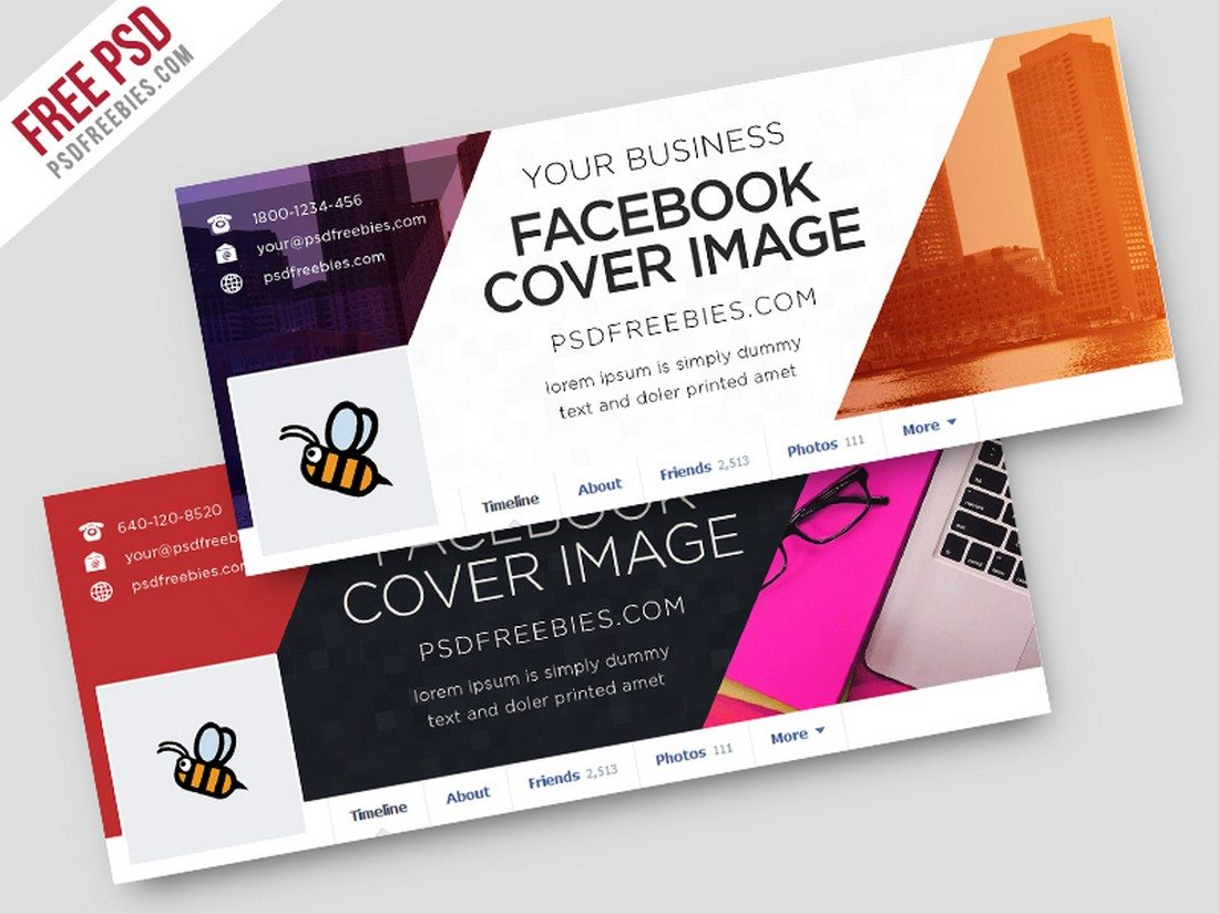20 best facebook cover post mockups design shack this beautifully designed facebook cover has everything you need to perfectly showcase your business through your facebook page the template is wajeb