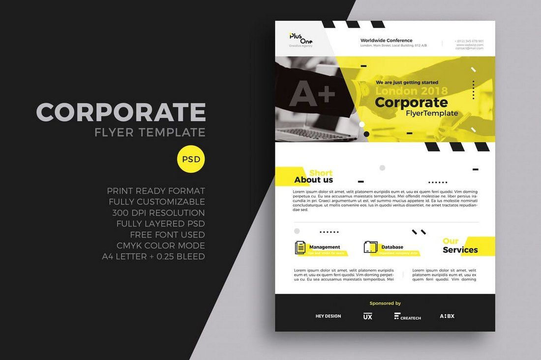 20 business flyer templates word psd design shack corporate flyer template psd accmission