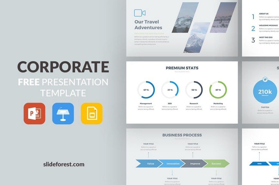 Corporate-Free-Slides-Presentation-Template 35+ Best Google Slides Themes & Templates 2019 design tips