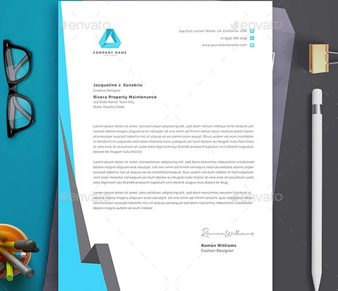 Corporate Letterhead Template MS Word
