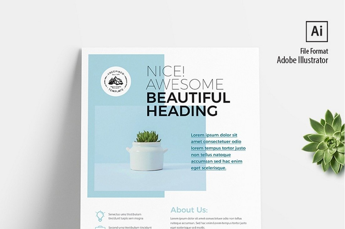 Corporate-Minimal-Flyer-Poster-Template 20+ Best Free Poster Templates (Illustrator & Photoshop) 2020 design tips  Inspiration