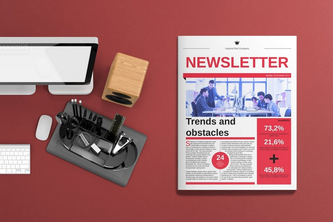 Corporate-Newsletter-Template-for-InDesign 20+ Best InDesign Newsletter Templates (Free & Premium) design tips  Inspiration