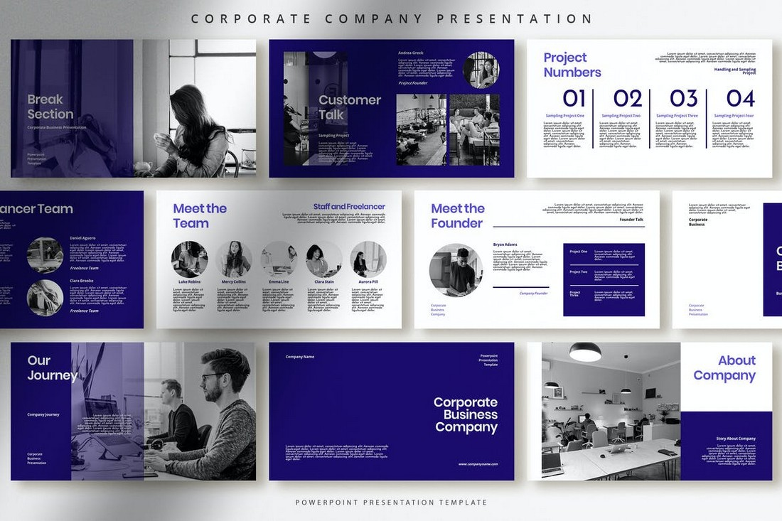 Corporate Professional PowerPoint Presentation Template