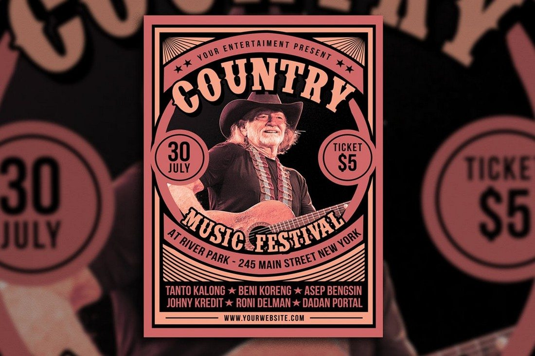 Country-Music-Festival 30+ Best Music & Band Flyer Templates design tips