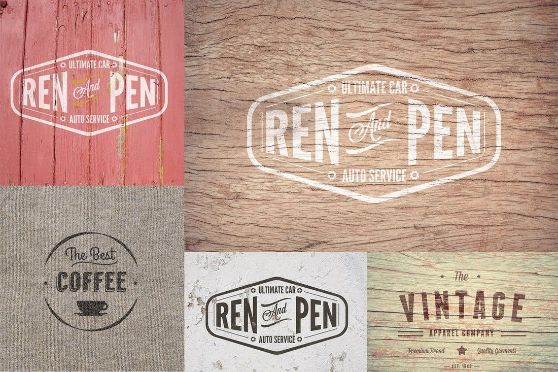 Cracked-Vintage-Logo-Mock-Ups 40+ Stunning Vintage Mockup Packs & Graphics design tips