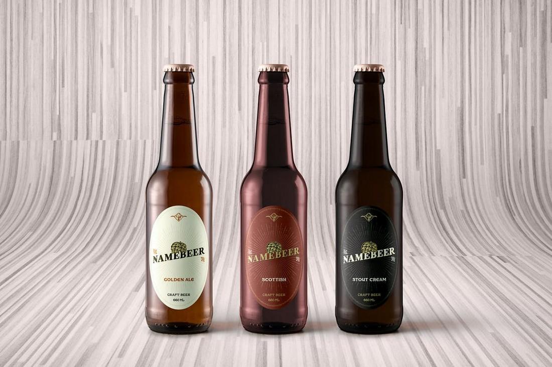 Craft Beer Bottle Label Template