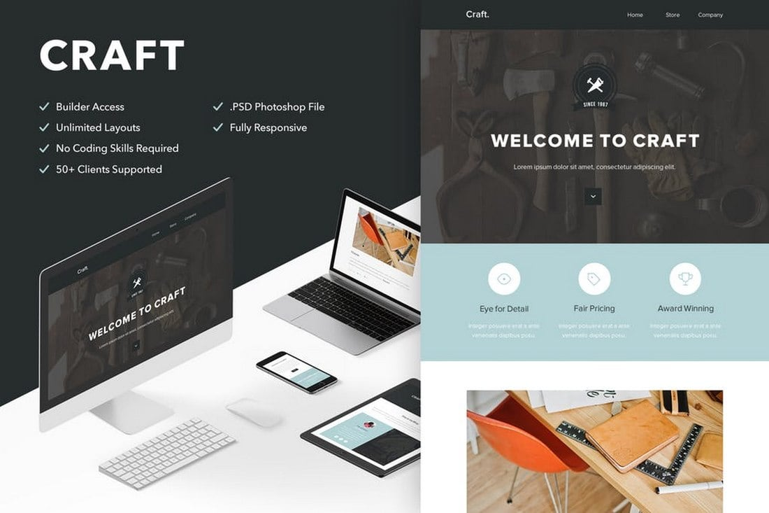 Craft - Minimal Email Newsletter Template