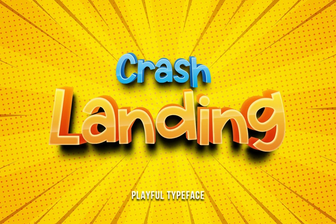 Crash Landing - Playful Gaming Font