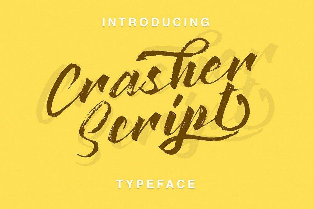 Crasher-Script 30+ Best Hand Lettering Fonts design tips