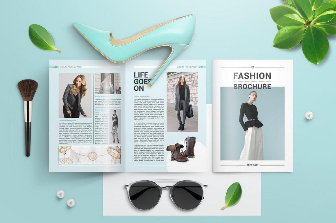 Creative A4 Bifold Brochure Mockup