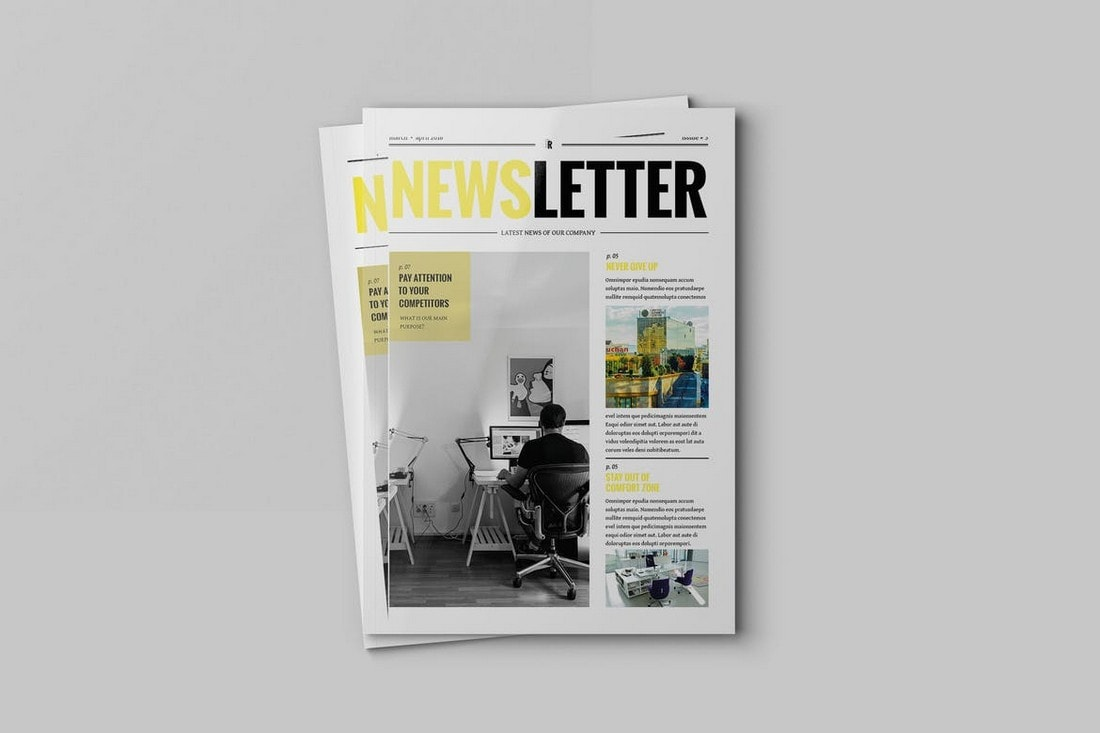 Creative-Agency-Newsletter-Template 20+ Best InDesign Newsletter Templates (Free & Premium) design tips  Inspiration