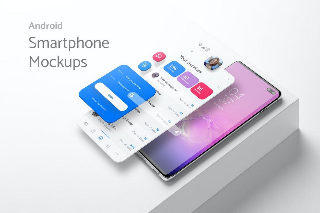 Creative Android Smartphone Mockup