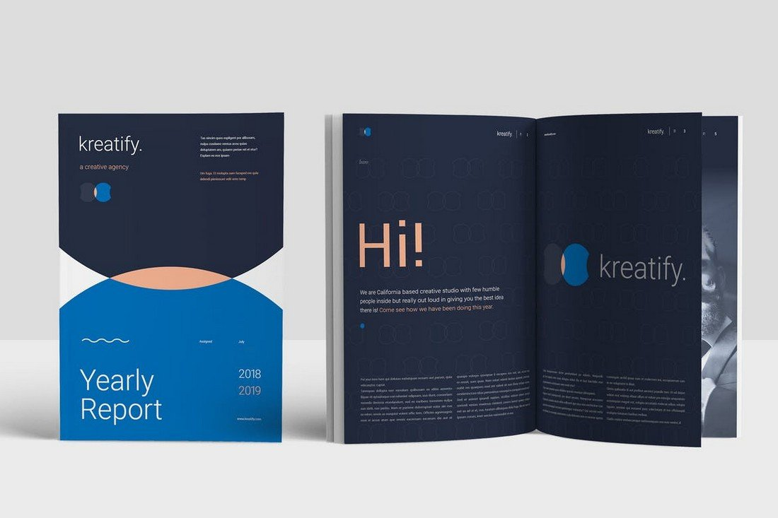 Creative Annual Report INDD Template
