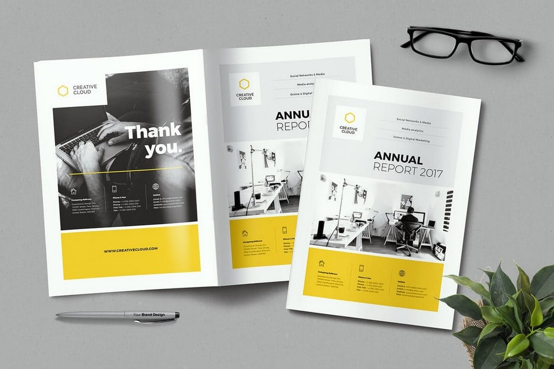 Creative-Annual-Report 20+ Annual Report Templates (Word & InDesign) 2018 design tips