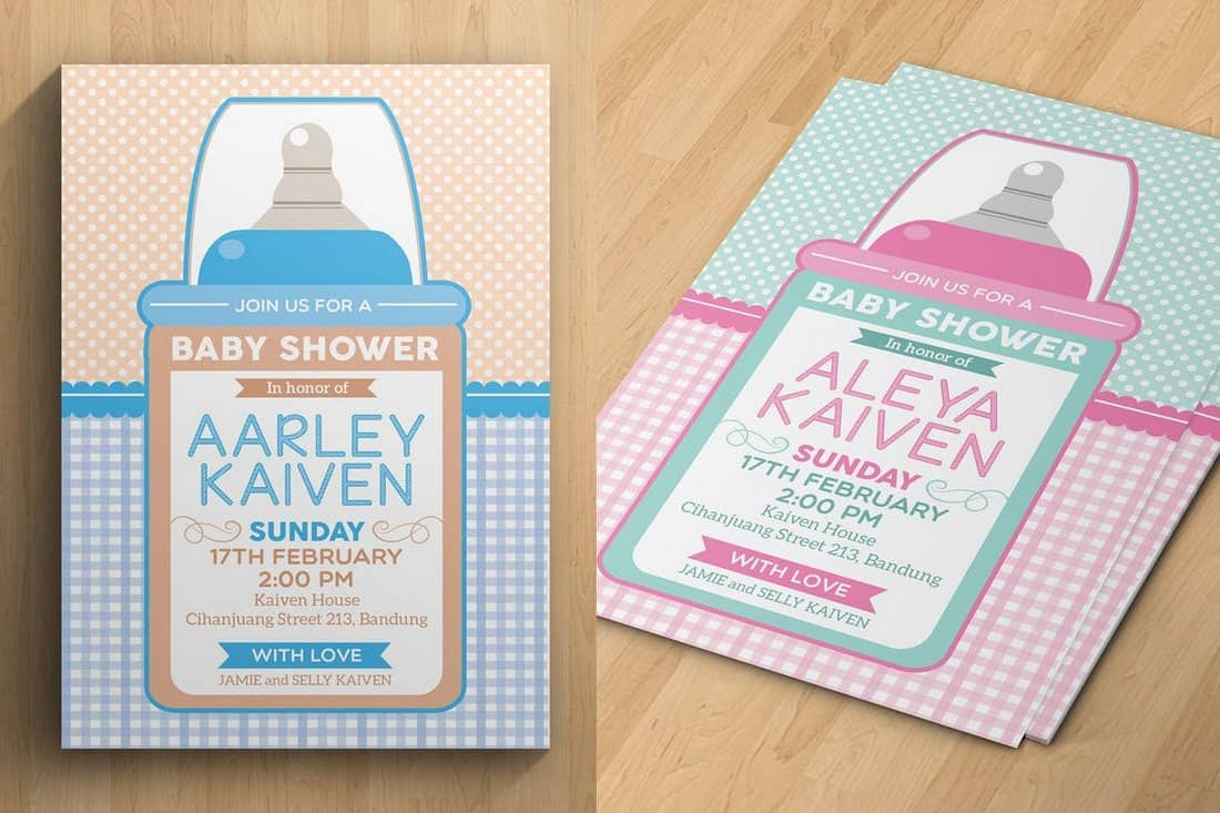 Creative Baby Shower Invitation Template