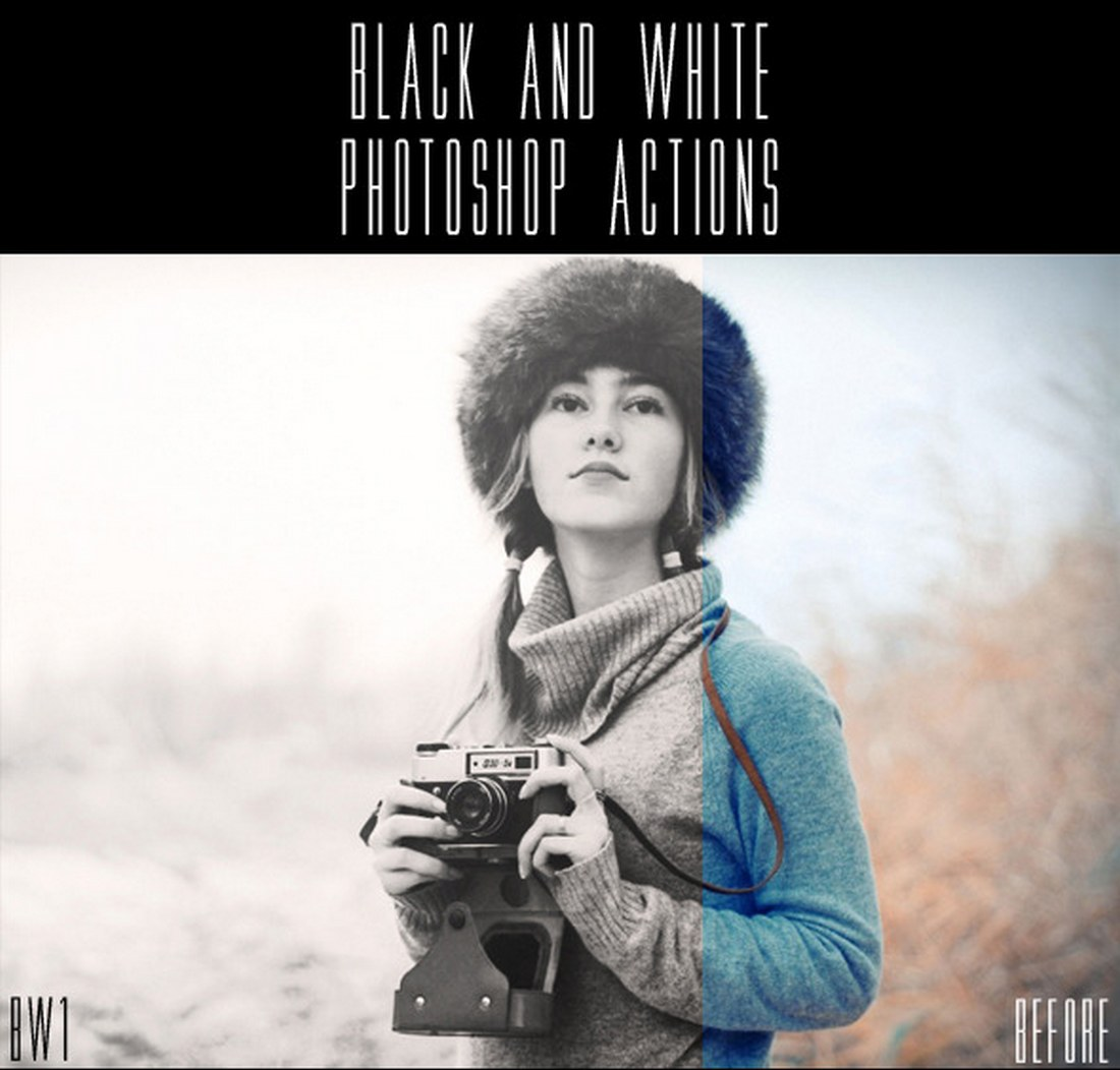 Creative Black and White Photoshop Actions