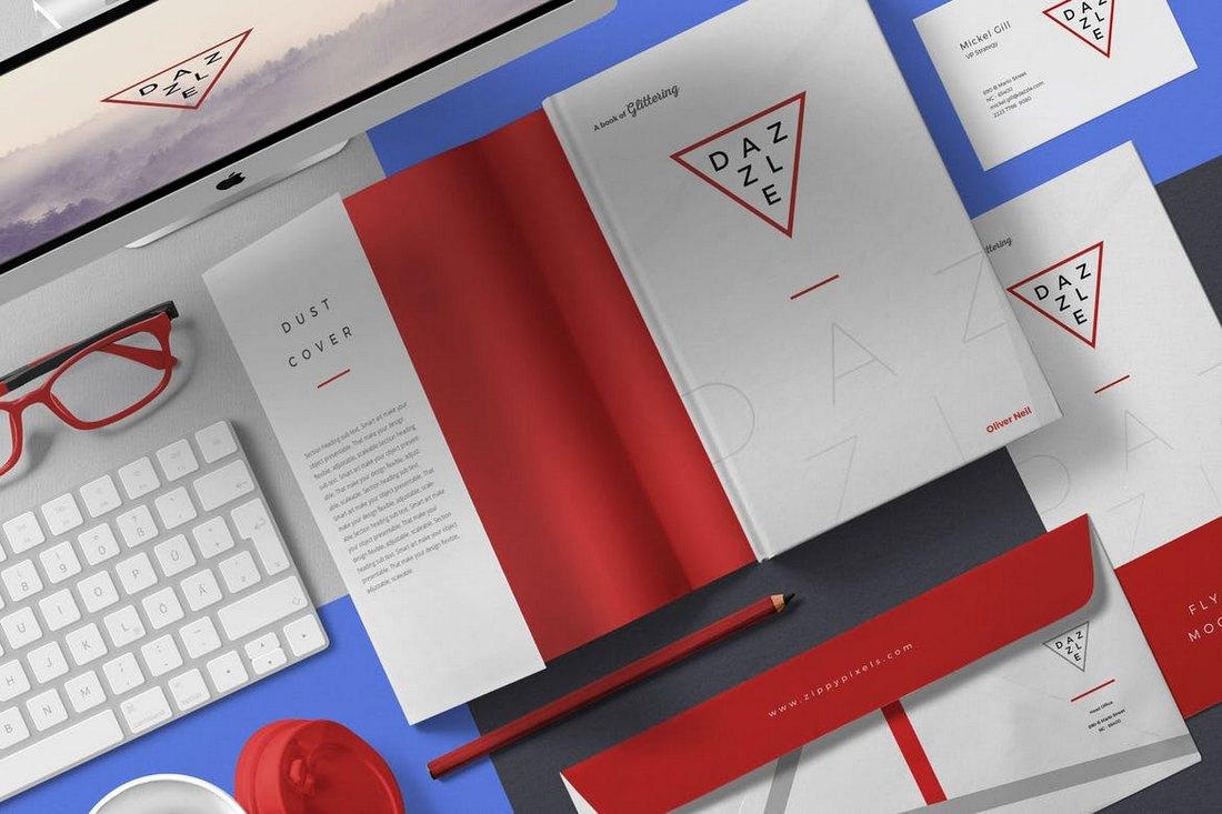Creative Book Cover Mockup Scenes