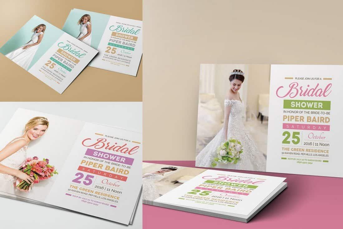 Creative bridal shower invitation