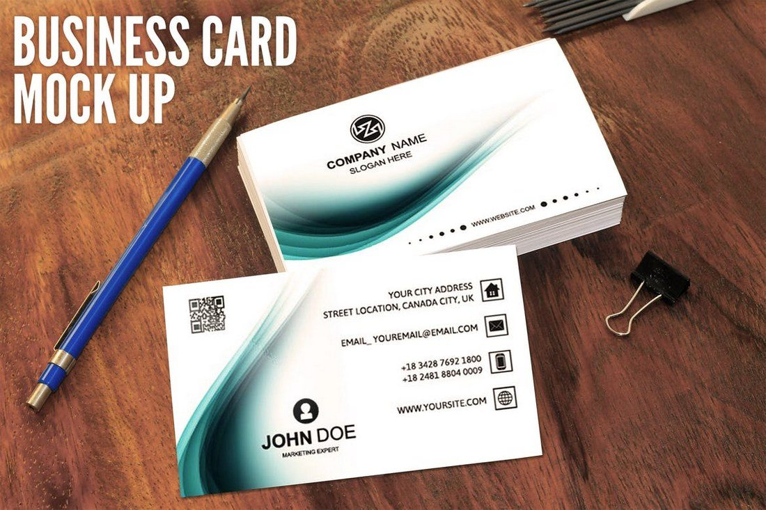 Top 5 professional business cards software 2018 fotoshop corporate creative business card mockups design s reheart Image collections