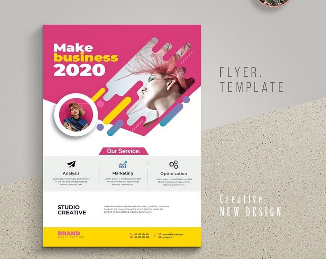 Creative-Business-FLyer-Poster-Template 20+ Best Free Poster Templates (Illustrator & Photoshop) 2020 design tips  Inspiration