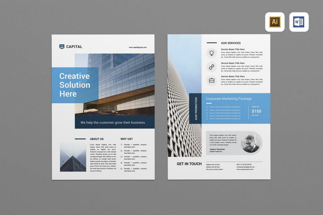 Creative-Business-Flyer 40+ Best Microsoft Word Brochure Templates 2020 design tips  Inspiration|brochure|templates