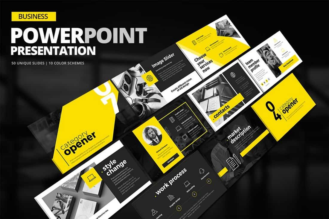 Présentation de Creative Business Powerpoint